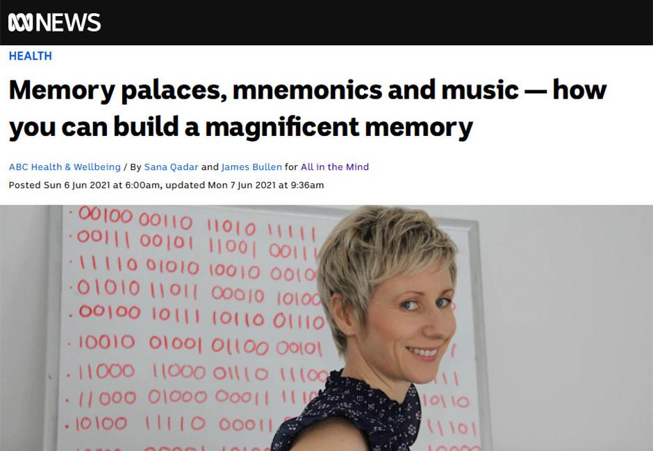 ABC news - Memory athlete Anastasia Woolmer